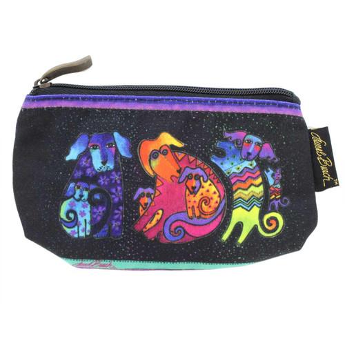 Laurel Burch Dog & Doggies 7x4 Cosmetic Bags LB5335A