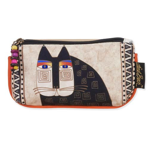 Laurel Burch 7x4 Cosmetic Bag Wild Cat Faces LB5336A