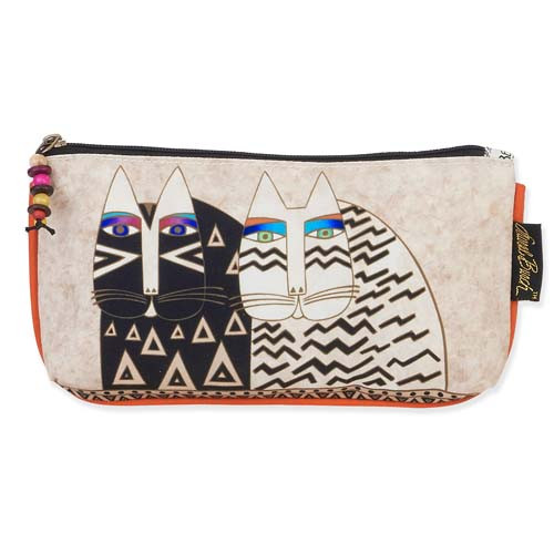 Laurel Burch 9x5 Cosmetic Bag Wild Cat Faces LB5336B