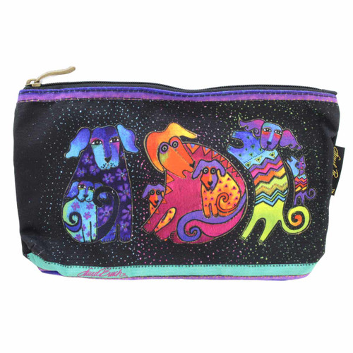 Laurel Burch Dog & Doggies 10x6 Cosmetic Bags LB5335C