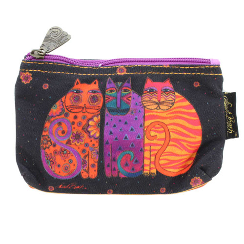 Laurel Burch Feline Friends 7x4 Cosmetic Bag LB5334A