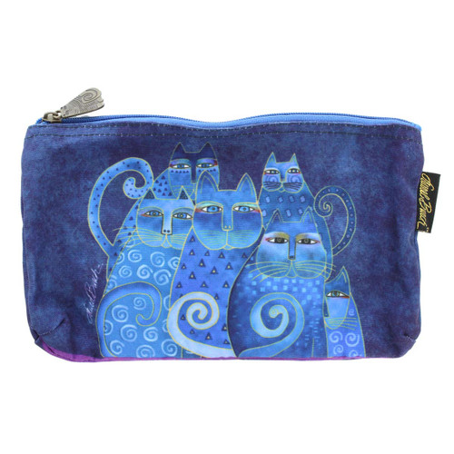 Laurel Burch Indigo Cats 10x6 Cosmetic Bag LB5332C
