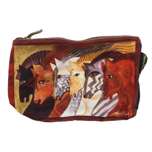 Laurel Burch Moroccan Mares 10x6 Cosmetic Bag LB5333C