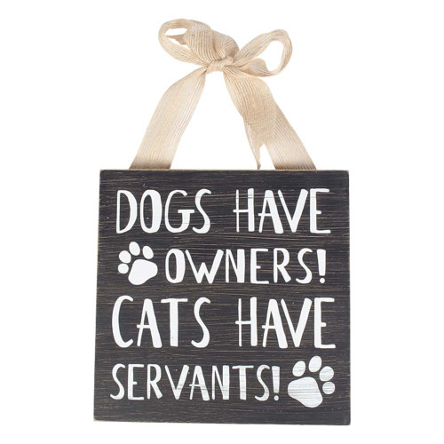 Cat Wood Wall Decor - Cats Have Servants - 10001