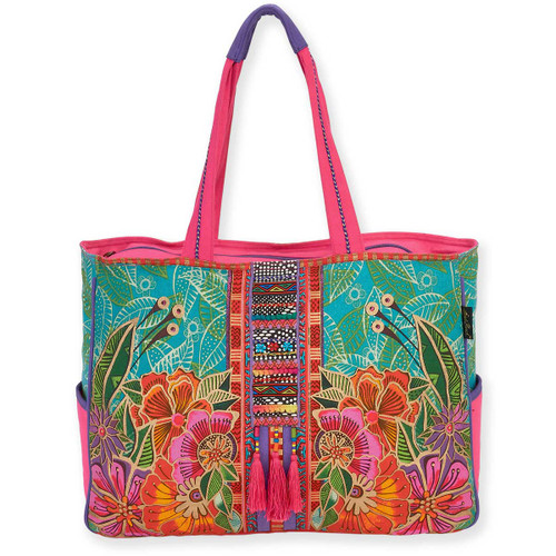 Laurel Burch Colorful Flora Floral Oversized Tote - LB5820