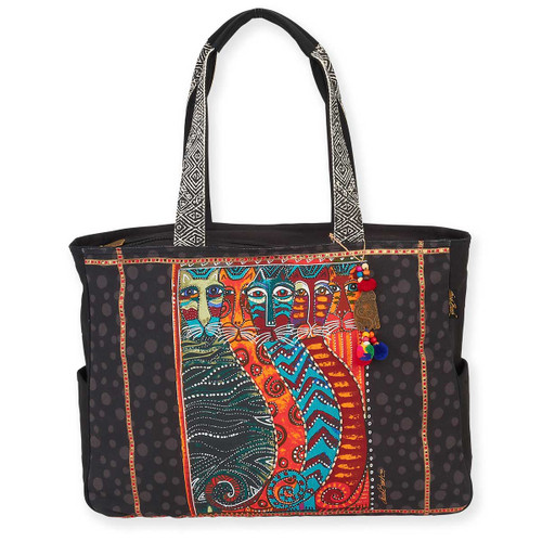 Laurel Burch Gatos Feline Cats Oversized Tote - LB5870