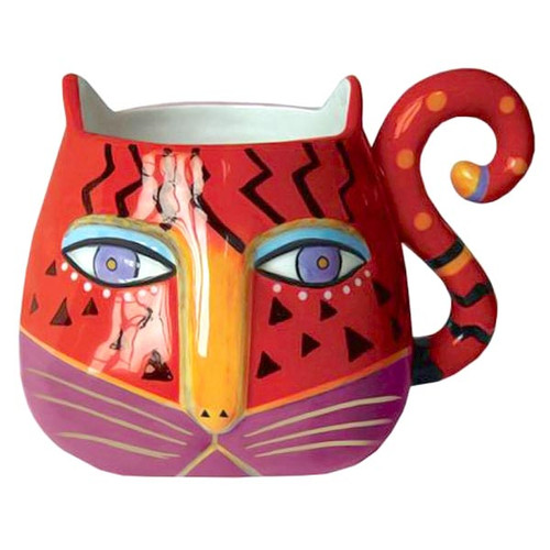 Laurel Burch Fantiasticat Cats Sculpted Mug - 26021