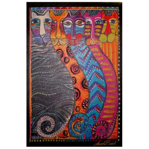 Laurel Burch Canvas Gatos Fantasticos Cat 10x15 Wall Art - LB26029