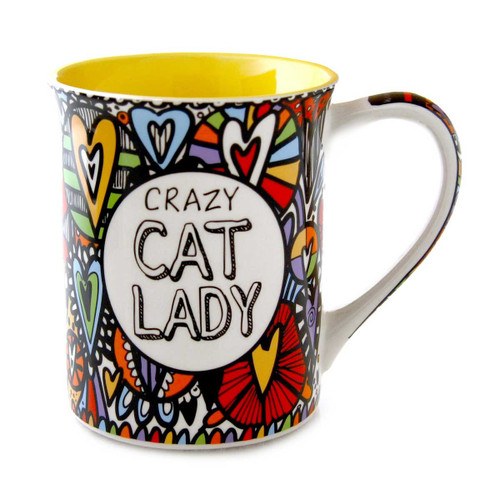 """Cat Mug """"Crazy Cat Lady - She Drinks Coffee and Cat Hair"""" - 4054444"""
