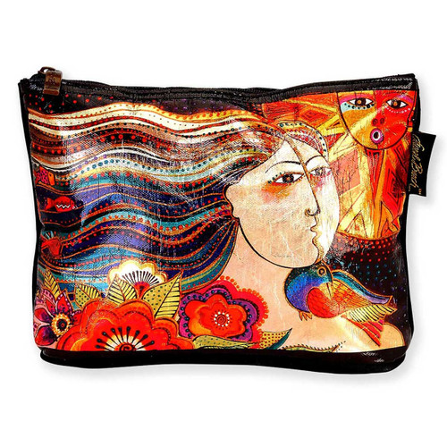 Laurel Burch 10x6 Foil Cosmetic Bag Mikayla LB5903B
