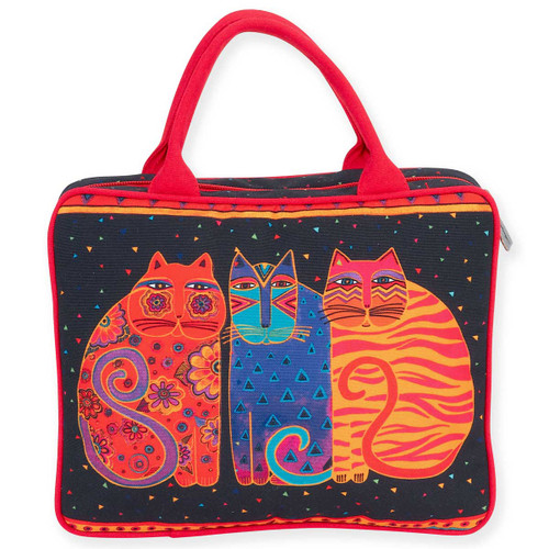 Laurel Burch Large Cosmetic Bag Feline Friends LB5900B