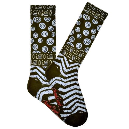 Mens Laurel Burch Hieroglyphic Shapes MENS Crew Socks - LBMS16H018-01