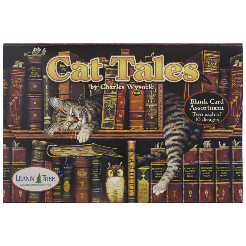 Charles Wysocki Cat Tales Greeting Card Assortment - 20 cards - AST90737