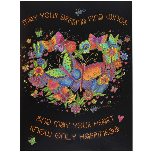 Laurel Burch Birthday Card - Butterfly Heart BDG17627
