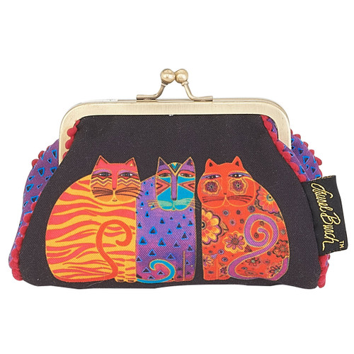Laurel Burch Coin Purse Feline Friends LB5902E
