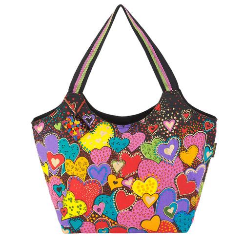 Laurel Burch Dancing Hearts Scoop Tote - LB6011