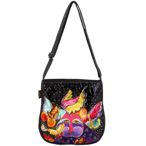 Laurel Burch Feline Flutterbyes Crossbody Tote - LB5951