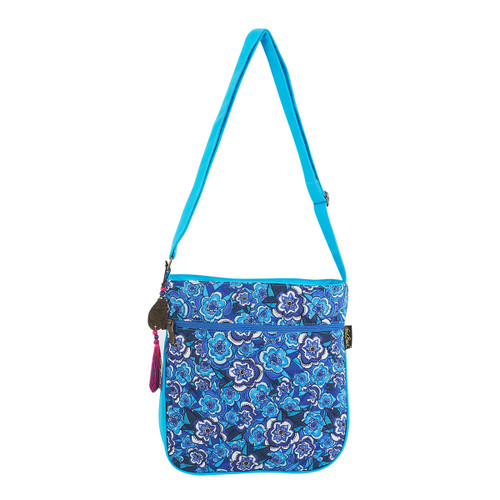 Laurel Burch Got the Blues Crossbody Tote - LB5982