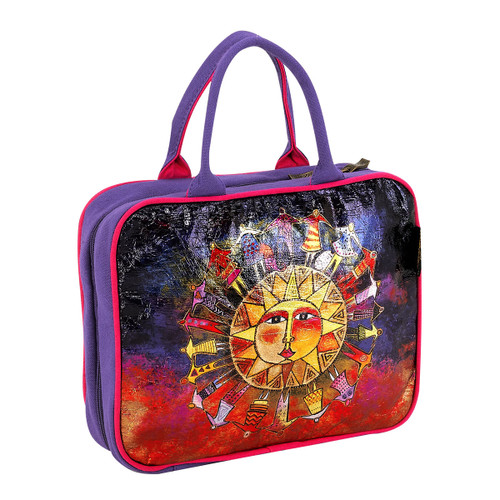 Laurel Burch Harmony Under Sun Foiled Canvas Cosmetic Travel Tote LB5923C