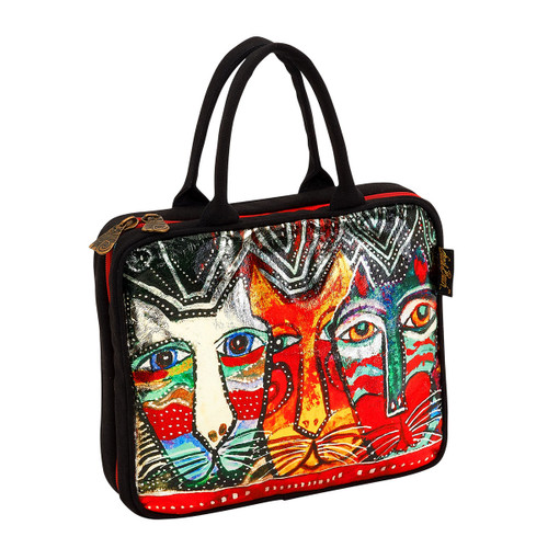 Laurel Burch Gatos Cats Foiled Canvas Cosmetic Travel Tote LB5923D