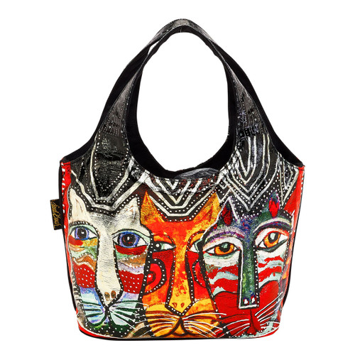 Laurel Burch Gatos Cats Foiled Small Scoop Tote - LB6270