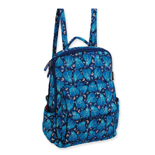 Laurel Burch Indigo Cats Quilted Cotton BackPack LB6320
