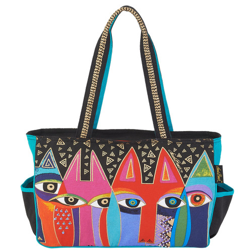 Laurel Burch Tribal Cats Medium Tote - LB6022