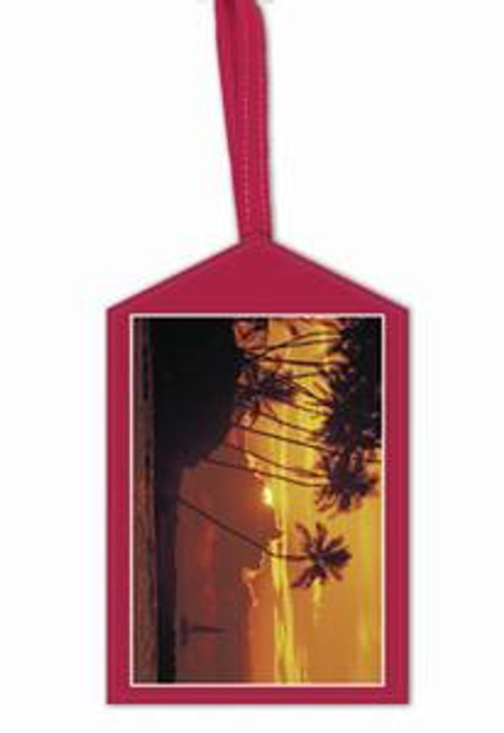 Palm Tree Sunset Luggage / ID Tag - 42183