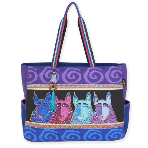 Laurel Burch Canine Tribe Oversized Tote - LB6070