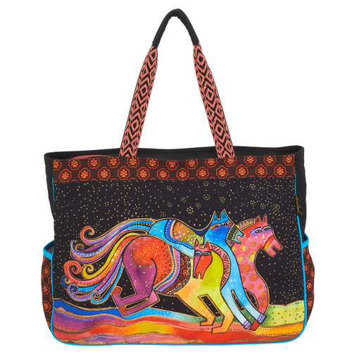 Laurel Burch Horse Caballos De Colores Oversized Tote - LB6090