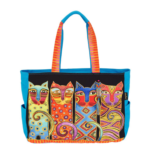 Laurel Burch Feline Clan Oversized Tote - LB6100