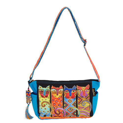 Laurel Burch Feline Clan Crossbody Tote - LB6102