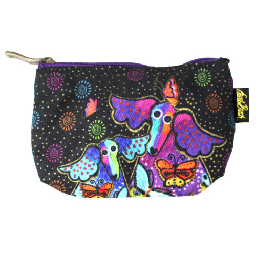 Laurel Burch Dog Papillion 7x4 Cosmetic Bag LB6220A