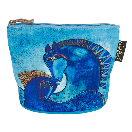 Laurel Burch Mythical Horses Cosmetic Clutch Pouch Aquatic LB6290B
