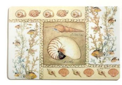 "Sea Shells ""Nautilus"" Laminated Placemat - 42790"