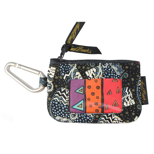 Laurel Burch Black White Polka Dot Wild Cats Coin Purse LB6348C