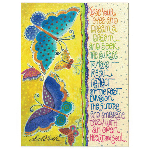 Laurel Burch Glitter Birthday Card - Butterfly Dream 20627