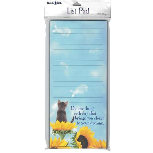 Cat Dreams in Flowers Magnetic List Pad - 61689