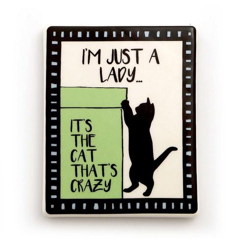 Cat is Crazy Cat Lady Magnet 4057146