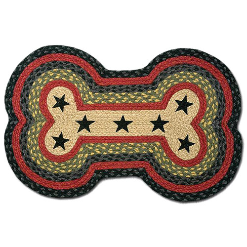 Black Stars with Red Dog Bone Rug DBP-238