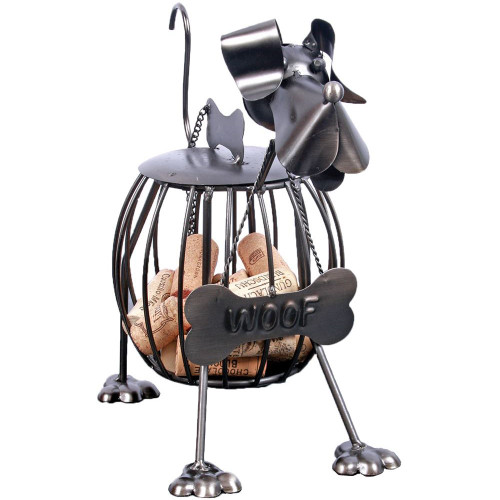 "Metal Dog Treat or Wine Cork Holder ""Woof"" 97529D"