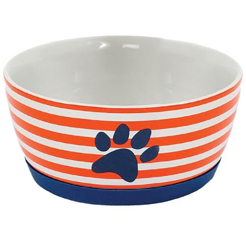 Orange and White Striped Pet Bowl Color - 40061A