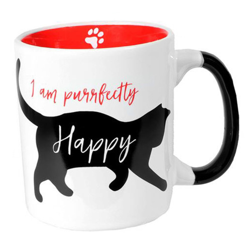 I am Purrfectly Happy Cat - Large 24oz Coffee Mug - 10620A