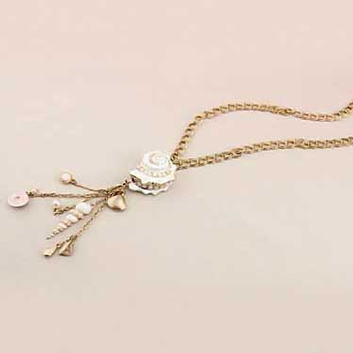 Gold Tone Nautical Necklace 43496