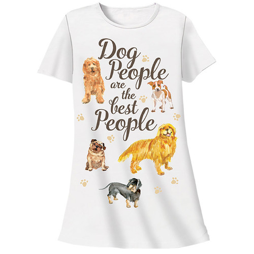 Dog People are Best People Theme Sleep Shirt Pajamas 333T