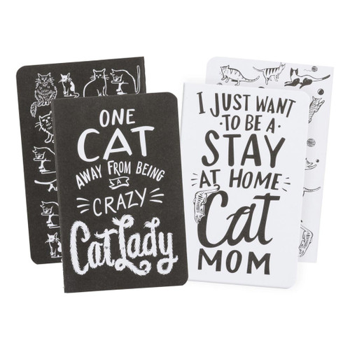 """Crazy Cat Lady - Small Notebook - Set of 2 - 3.5"""" x 5.5"""" - 35720"""