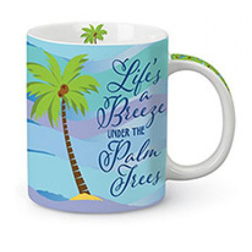 Life's a Breeze under Palm Trees Coffee Mug
