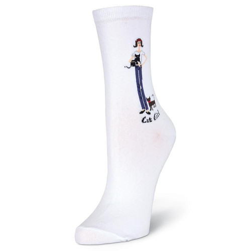 Womens Cat Girl Sock