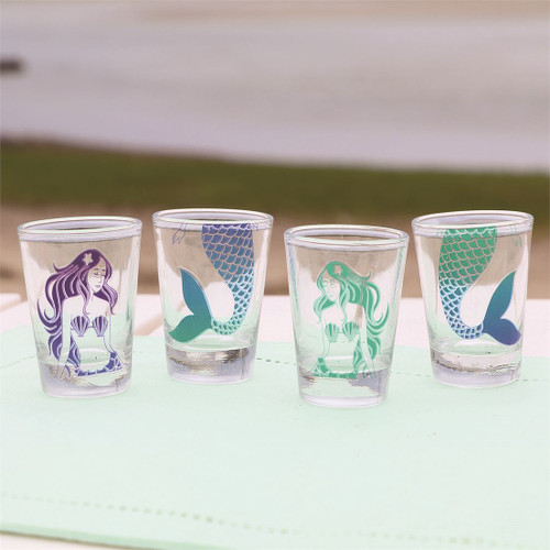 Mermaids Shot Glass - Set of 4 - 20684