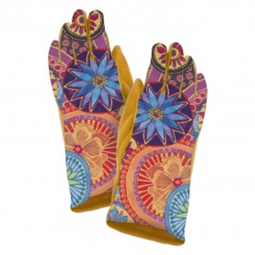 Laurel Burch Circle Floral Suede Glove